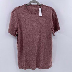 J.Crew Essential crewneck T-shirt heathered red M